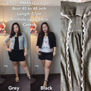 E550 *Ready Stock *Bust 40 to 48 inch/100-122cm