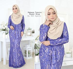 Kebaya Lace Fazura Royal Blue