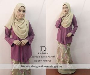 Kebaya Pastel Luna Dusty Purple