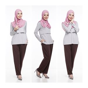 Casual Pant - DARK BROWN - (Maternity Friendly)