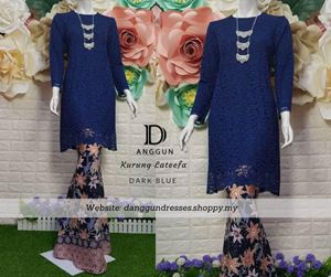 Kurung Lace Lateefa Dark Blue
