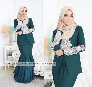 Kebaya Juliet Luxe Emerald Green