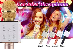 Q7 Portable Wireless Karaoke Microphone Handheld Condenser Microphone with Speaker