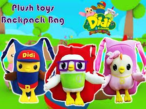 Cute Plush Toy DIDI & FRIENDS Backpack Bag N00865