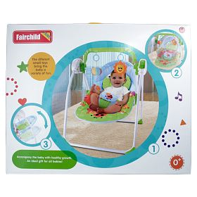 Fairchlid Baby Swing GREEN ( mosquito net and remote control ) / new born / baby / BPA free