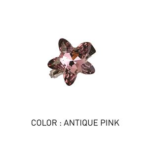 Brooch Star Antique Pink