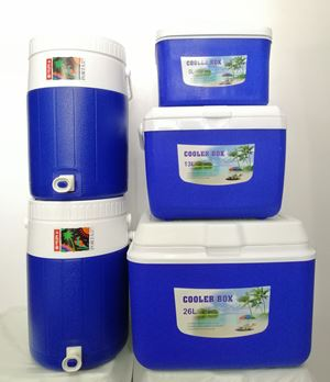 SET COOLER PORTA 5PCS  - BLUE