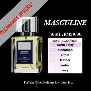 MASCULINE 50ml EDP PERFUMES CLEARANCE STOCKS