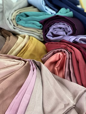 BAWAL SATIN BUBBLE SILK  PLAIN