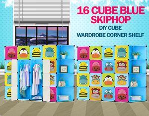 Skiphop Blue 16C DIY Cube w Corner Rack (SK16CB)