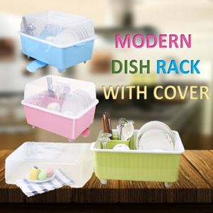 MODERN DISH RACK WITH COVER