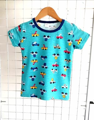 T-Shirt Short Sleeve CAR TURQUOISE: Size 1y-6y (1 - 6 tahun) TW