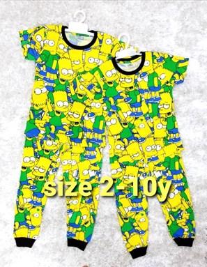 Pyjamas SIMPSON YELLOW GREEN : KIDS size 2 - 10
