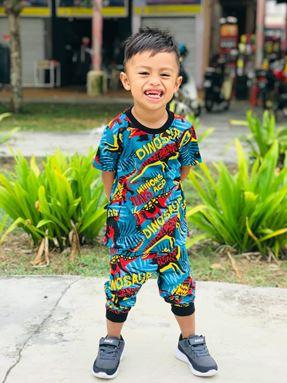 Pyjamas Viral Dinosaur Kids (Sz  12, 14,16) - sesuai anak2 sekolah rendah