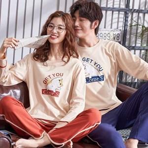 KOREAN STYLE COUPLE LONG SLEEVE SLEEPWEAR - SET 2   ( SIZE M - 3XL )