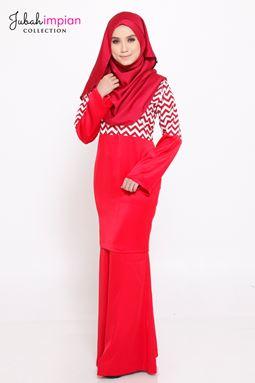 BAJU KURUNG SORAYA  ( Red )