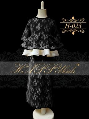 HAPPYkids Exclusive Lace Peplum H-023 ( BLACK )