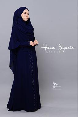 JUBAH HAWA SYARIE (DARK BLUE)