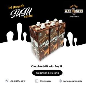 Chocolate Milk with Soy 1L X 12 PKTS