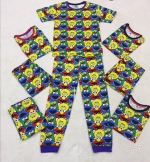 Pyjamas ELMO CORAK : SIZE 9 -14 (size budak besar)
