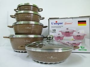 10PCS UNIQUE GRANITE ANTI SCRATCH - BROWN