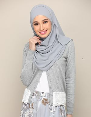 LILY LACE CARDIGAN IN GREY