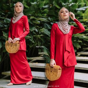 NAFEESA ADRIANA KURUNG CHILI RED