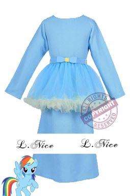 @  MY LITTLE PONY ( BLUE ) INSPIRED BAJU KURUNG  ( 2Y - 12Y )