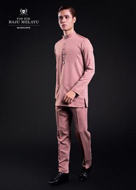 Baju Melayu For Him (Crepe Pink)