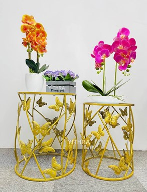 2PCS SIDE TABLE BUTTERFLY A6602