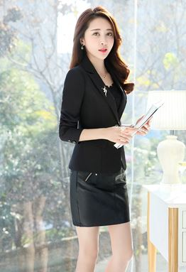 Long-Sleeve Slim Coat
