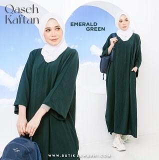QASEH KAFTAN EMERALD GREEN