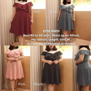 ET08*Ready Stock *Bust 44 to 50inch/112-127cm