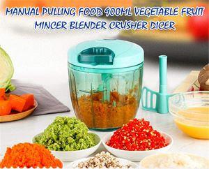 Manual Pulling Food 900ml Vegetable Fruit Mincer Blender Crusher Dicer