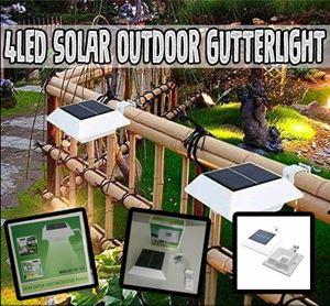 4LED Solar Outdoor Gutterlight