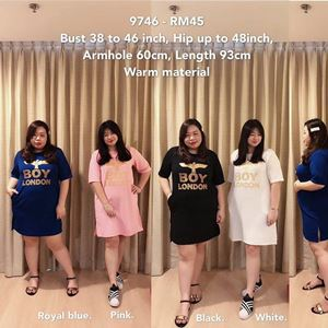9746 *Ready Stock Boy London *Bust 38 to 46 inch/ 97-116cm