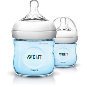 Avent Natural  Bottle 4oz/ 125ml Twin Pack (Blue)