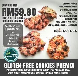 Gluten-Free Cookies 24-hour sale!