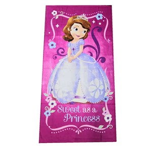 @  CARTOON BATH TOWEL  - PRINCESS SOFIA   ( Size 140*70cm )