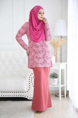 RAISHAH LACE - CORAL