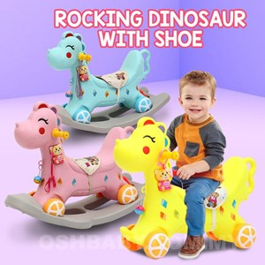 ROCKING DINOSAUR WITH SHOE