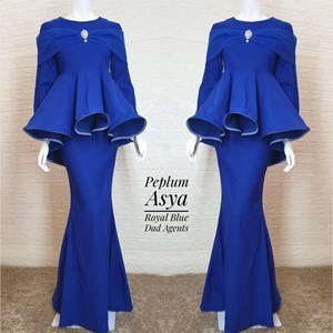 Peplum Asya Royal Blue