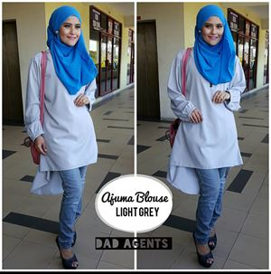 Ajuma Blouse Light Grey