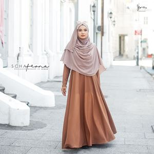 SCHAFERNA EXCLUSIVE MODERN IN JUBAH (MEDIUM BROWN)