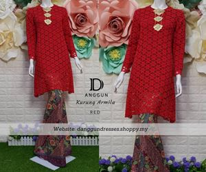 Kurung Lace Armila Red