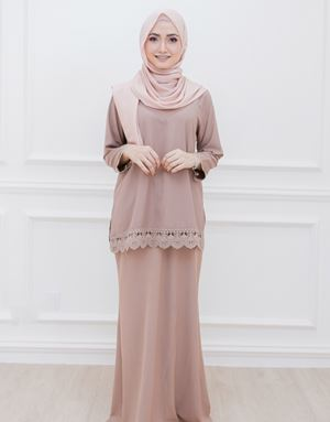DIAN MODERN KURUNG IN DUSTY BROWN