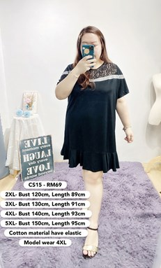 CS15 Ready Stock*Bust 47 to 59 inch/ 120-150cm