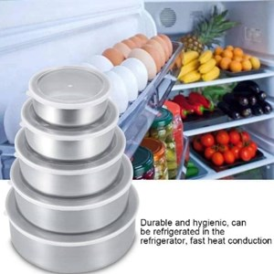 Set of 5 unit Stainless Steel Storage Box