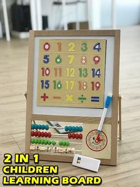 2 IN 1 CHILDREN LEARNING BOARD