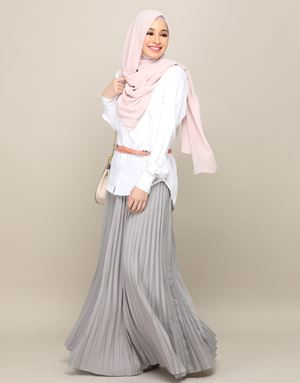 HARPER SKIRT IN GREYSILVER